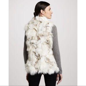 NEW Jocelyn Roadie Sectioned Fox Fur Vest, White